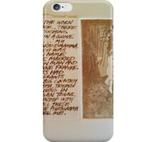 Anna with Text iPhone Case/Skin