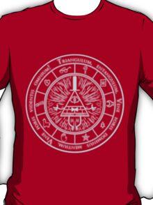 Bill Cipher Gravity Falls Symbols and Incantation  T-Shirt