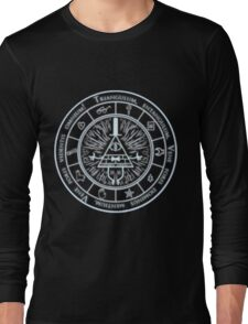 Bill Cipher Gravity Falls Symbols and Incantation  Long Sleeve T-Shirt