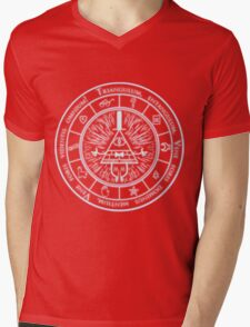 Bill Cipher Gravity Falls Symbols and Incantation  Mens V-Neck T-Shirt