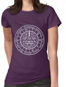 Bill Cipher Gravity Falls Symbols and Incantation  Womens Fitted T-Shirt