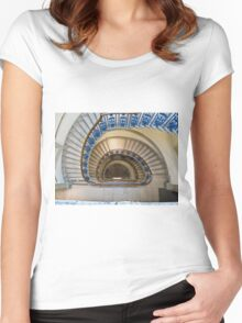 Somerset House staircase, London Women's Fitted Scoop T-Shirt