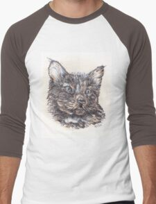 Kitten Men's Baseball ¾ T-Shirt