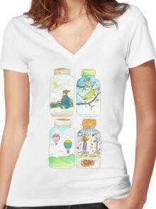 Season in the jar Women's Fitted V-Neck T-Shirt