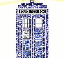 Wisdom of Doctor Who-TARDIS  by jabberdashery