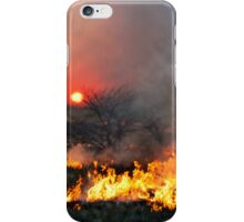 Prairie Burn Sunset in Kansas iPhone Case/Skin