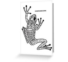 music frog Greeting Card
