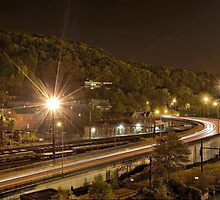 Trainstation at night by Jean-Claude Dahn