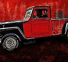 Jeep Pickup Adventure Comic Book Scene by ChasSinklier