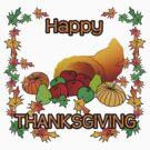Happy Thanksgiving by JayBakkerArt