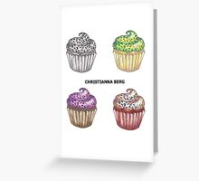 leopard print cupcakes! Greeting Card