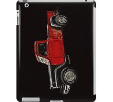 Jeep Pickup Adventure Comic Book Scene iPad Case/Skin