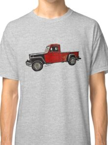 Jeep Pickup Adventure Comic Book Scene Classic T-Shirt