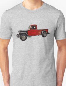 Jeep Pickup Adventure Comic Book Scene T-Shirt