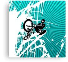 BMX Pop Art Blue Canvas Print