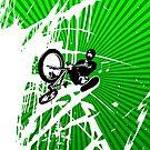 BMX Pop Art by JayBakkerArt
