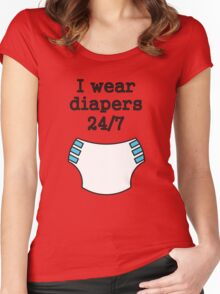 I wear diapers 24/7 Women's Fitted Scoop T-Shirt
