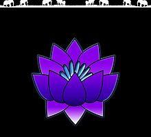 Lotus and Elephants by Sandy Strunk