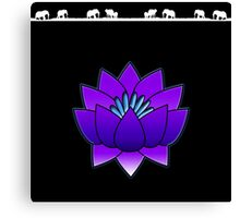 Lotus and Elephants Canvas Print