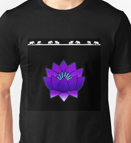 Lotus and Elephants Unisex T-Shirt