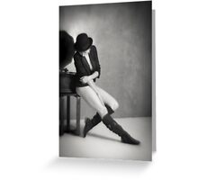 Don't cry because it's over, smile because it happened. Greeting Card