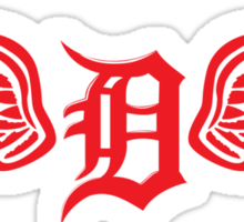 Detroit D Wing Sticker