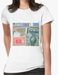 Historical banknotes Womens Fitted T-Shirt