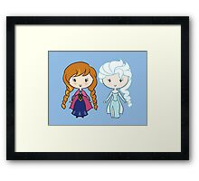Lil' CutiEs - Summer & Winter Princesses Framed Print