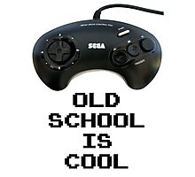 Old School Is Cool - Mega Drive Photographic Print