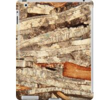 Thin section of fossil calcareous shell fragments  iPad Case/Skin