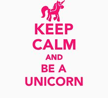 Keep calm and be a unicorn Womens Fitted T-Shirt