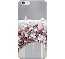 Red Berry Iced Wreath iPhone Case/Skin