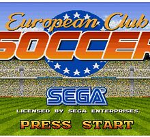 European Club Soccer - Mega Drive by iHux
