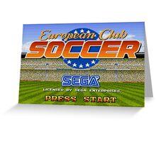 European Club Soccer - Mega Drive Greeting Card