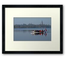 Rowing for Holland on the Mirror Lake Framed Print