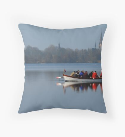 Rowing for Holland on the Mirror Lake Throw Pillow