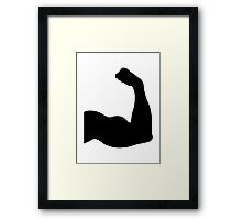 Arm muscles Framed Print