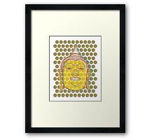 Buddha's Smile Zen Pop Art Framed Print
