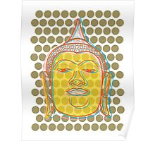 Buddha's Smile Zen Pop Art Poster