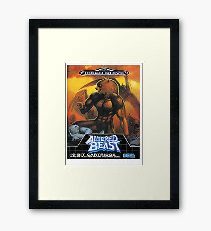 Altered Beast - Retro Mega Drive T-shirt Framed Print