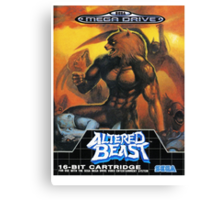 Altered Beast - Retro Mega Drive T-shirt Canvas Print