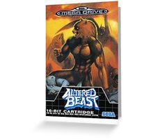 Altered Beast - Retro Mega Drive T-shirt Greeting Card