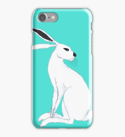 WHITE HARE iPhone Case/Skin