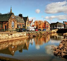 Refelctions in the River Leven at Great Ayton by Christine Smith