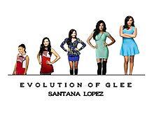 Evolution of Glee || Santana Lopez by linked-pinkies