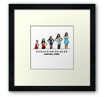 Evolution of Glee    Santana Lopez Framed Print