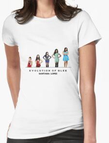 Evolution of Glee || Santana Lopez Womens Fitted T-Shirt