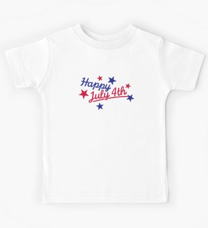 Happy July 4th Independence Day Kids Tee