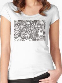 Escapees from the mind Women's Fitted Scoop T-Shirt