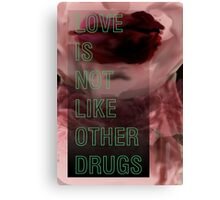 Hurricane Kisses: Love is Not Like Other Drugs Canvas Print